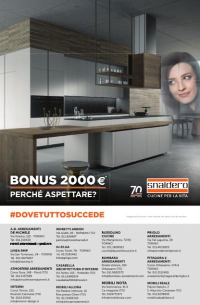 Snaidero - Bonus 2000 euro: perché aspettare?