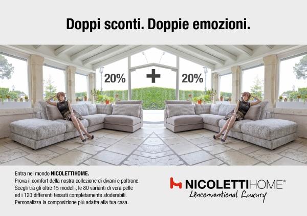 NicolettiHome - Doppi sconti. Doppie emozioni.