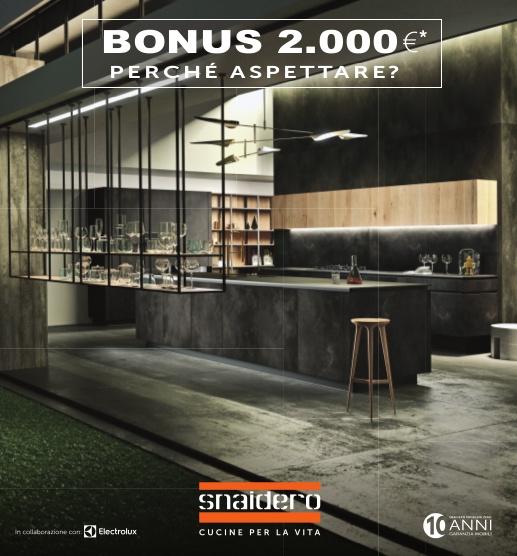Snaidero - Prorogata la promozione Bonus 2000 €